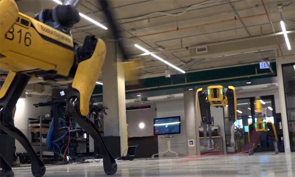 Robothond Spot heeft nu een veelzijdige arm tot zijn beschikking